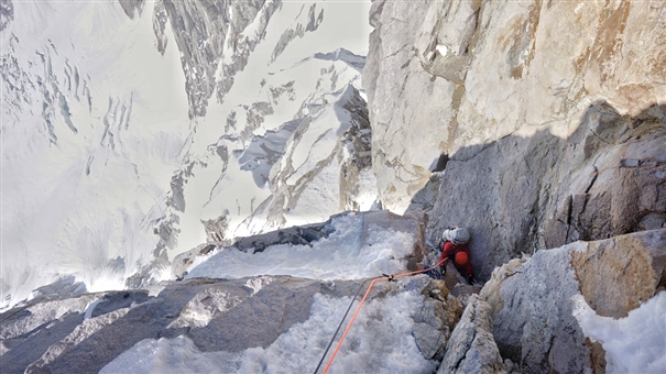In Alaska, MEF supported expedition climbs hard new route