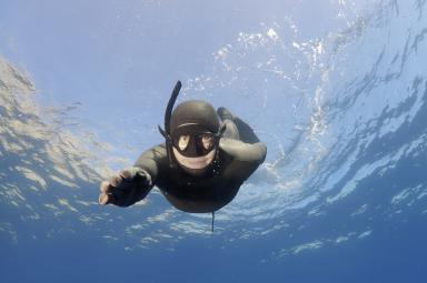Freediving-Ascent