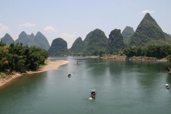 The sprawling karsts of Yangshuo, on the Li River