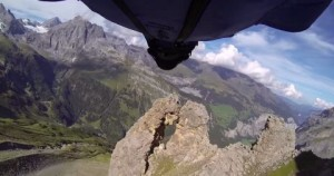 Wingsuit Flight Via 2 Meter Cave
