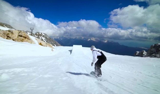 Snowboarders Took Over An Abandoned Ski Resort