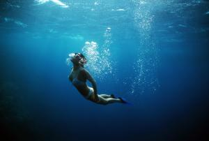 Freediver-Near-Surface